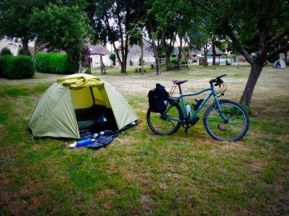 Na 147 km op een boerencamping