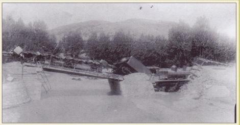 De spoorbrug bij Luco
