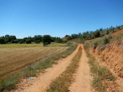 Heel erg oude weg naar Calamocha