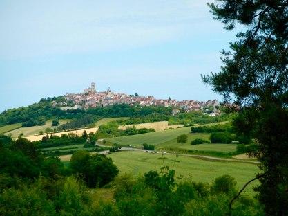 Vezelay ligt hoog